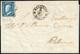 VILLAFRATI, Punti R1 - 2 Grana (8c), Giusto A Sinistra, Su Lettera Del 4/12/1859 Per Palermo. Annull... - Sizilien