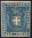 1860 - 20 Cent. Azzurro (20), Nuovo, Gomma Originale, Riparato. Raro.... - Toscana