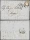 1861 - 10 Cent. Bruno Cioccolato Chiaro (14Cea), Ottimo Stato, Su Lettera Da Siena 16/3/1861 Ad Arez... - 1861-78 Victor Emmanuel II