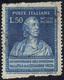 1949 - 50 Lire Volta, Non Dentellato Orizzontalmente (612b), Usato, Perfetto. Carraro, Cert. E.Diena... - 6. 1946-.. Repubblica