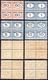 SEGNATASSE 1926 - 60 Cent., 1 Lira, 5 Lire E 10 Lire Cifra Nera, Moneta Italiana (47/48,50/51), Bloc... - Somalia