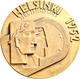 Medaillen Alle Welt: Finnland: Bronzemedaille 1952 V. Kauko Räsänen, Teilnehmermedaille, Auf Die XV. - Gettoni E Medaglie