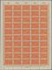 Deutsches Reich - Inflation: 1919, Flugpostmarke 10 Pf. Rotorange In 20 Kompletten Bögen (alle 1 X M - Collezioni