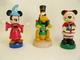 Ensemble De Trois Casse-noix Disney: Pluto, Mickey Magicien Et Mickey Père Noël. Résine Et Bois, Hauteur: 35 Cm. Bon éta - Otras Colecciones