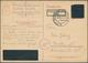 Alliierte Besetzung - Behelfsausgaben: Sowjetische Zone: 1945, OPD Schwerin: Postkarte 6 Rpf. Auf 6 - Soviet Zone