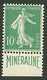 10c MINERALINE (n°188A) Neuf **. Cote 725€. TTB. - France
