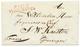 1813 P.123.P WINSCHOTEN En Rouge Sur Lettre Avec Texte Pour GRONINGEN. Très RARE. Superbe. - Postmark Collection (Covers)