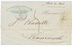 """GUERRE De CRIMEE - Tarif Intérieur"" : 1856 ""BOITE DU BORD"" Manuscrit + Taxe 5 + KAMIESH CRIMEE 16 Juin 56 Sur Lettre Av - Sellos De La Armada (antes De 1900)"