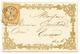 """1862 10c (n°13) Pd Obl. T.15 EYGUIERES Sur Magnifique Enveloppe """"VALENTINE"""". Superbe. - 1853-1860 Napoléon III"""