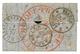 30c (n°30) Obl. T.17 TOURS 1 Nov 70 Sur Lettre Avec Texte Pour BRUXELLES (BELGIQUE). Verso, Cachet Rouge Des AEROSTIERS  - Marcofilie (Brieven)