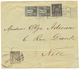 1900 SAGE 10c + 1c(x2) Un Ex. Léger Pli Obl. Cachet Américain UNITED STATES POSTAL STATION + PARIS EXPOSITION 1900 + 3c  - Frankrijk