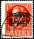 "5-15 Pfg. Mit Lochung ""LK"", Gestempelt, Geprüft Infla/Helbig BPP, Mi. 140.-, Katalog: 38/40 O - Bayern"