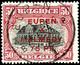 """75 Pfennig Auf 50 Centimes, Gezähnt 15:15, Gestempelt, Kurzbefund Dr. Hoffner BPP """"echt, Einwandfrei"""", Mi.250,-, Katalog - Eupen Und Malmedy"""