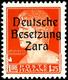 """10 Bis 30, 75 Cmi., 1,25 Und 1,75 L., 8 Postfrische Werte, Je Type I Mit Aufdruckfehler """"offenes D"""" (Feld 14), Sign. Lud - Deutsche Bes.: Zara"""