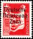 """5 Lire Freimarke Mit  Aufdruck In Type II, Aufdruckfehler Von Feld 17 Der Überdruckplatte = """"Besetzung Anstatt Besetzung - Deutsche Bes.: Zara"""