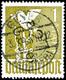 """1 Mark Geyer A, Sog. """"Goldtaube"""", Sehr Schönes Und Seltenes Stück Mit Zentral Sitzender Entwertung, Michel 450,-  Gepr.  - Sowjetische Zone (SBZ)"""
