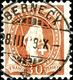 "1907, 30 C. Stehende Helvetia, Lebhaftbraunorange, Zähnung C, Gestempelt ""Berneck 28 III 08"", Tadellose Erhaltung, Fotoa - Switzerland"