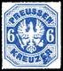 """6 Kreuzer Ultramarin, Adler Im Achteck, Farbfrisches Und Tadellos Durchstochnes Kabinettstück, Besonderheit """"Druckzufäll - [ 1] …-1871 : German States"""