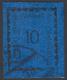 """CLICHE' MODIFICATO. Esemplare Da 10h. Oltremare Con La """"mezzaluna Rovesciata"""" (n.3A), Annullato. Cert. Colla. - 8. Besetzung 1. WK"""
