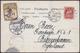 SPITZBERGEN - POLAR POST. Cartolina Spedita Da Hammerfest Il 19/8/1902 Ed Affrancata Con Francobollo Norvegese E Etichet - Noorwegen