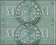 Großbritannien: 1891, Queen Victoria £ 1 Green, Vertical Pair FA-GA, Very Fresh Colours And Perfect - Grossbritannien