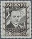 """Österreich: 1936, 10 Schilling Freimarke """"Bundeskanzler Dr. Engelbert Dollfuß"""". Diese Marke Wurde Im - 1850-1918 Imperio"""