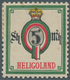 Helgoland - Marken Und Briefe: 1890, 5 Sh. / 5 Mk., Amtlicher Neudruck Der Reichspostverwaltung In U - Heligoland