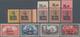 """Deutsche Post In China: 1901: 3 Pfg - 5 Mk, Germania-Marken Mit Aufdruck """"China"""" Und Zusätzlichem Bu - Kantoren In China"""