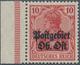 Deutsche Besetzung I. WK: Postgebiet Ober. Ost: 1916: 10 Pfg Dunkelrot, Einwandfrei Postfrisch Mit L - Occupation 1914-18