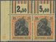 Deutsche Besetzung I. WK: Postgebiet Ober. Ost - Libau: 1919, Freimarken Germania 25 Pfg. Rotorange/ - Ocupación 1914 – 18