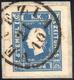 1858 - 1,05 S. Azzurro (8), Perfetto, Usato Su Piccolo Frammento A Venezia 21/10. Bello. Cert. G.Bol... - Lombardy-Venetia