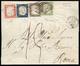 1860 - 5 Cent. Verde Oliva Chiaro, 10 Cent. Bruno Lillaceo, 20 Cent. Azzurro Scuro, 40 Cent. Rosso (... - Kerkelijke Staten