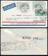 1931 - 5 Lire, Due Esemplari, 25 Cent. Virgilio (7,284), Perfetti, Su Aerogramma Da Torino 8/7/1931 ... - Italië