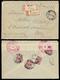 RUSSIA 1916 - 5 K. (65), Quattro Esemplari, Al Verso Di Busta Raccomandata Da Kharbin 23/1/1916 A Pa... - Europe (Other)