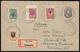 UCRAINA 1918 - 1 K. E 50 K. Dentellati, 2 K., 3 K. E 4 K. Non Dentellati (1,15,25,26,27), Perfetti, ... - Otros - Europa