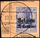 """SINT-TRUIDEN 20.2.17"", Klar Auf Postanweisungsausschnitt 25 C., Katalog: 4 BS - [ 9] Territoires Allemands Occupés"