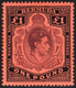 1938-53 £1 Purple & Black Red, With 'gash In Chin' Variety, Fine M, SG.121cf. Cat. £2000 - Zonder Classificatie