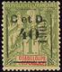 """* """"C Et D"""". No 54 (Maury 52I G), Case 38, Compo III Sur A Ou B. - TB (cote Maury) - Guadeloupe (1884-1947)"""