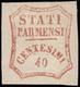 GOVERNO PROVVISORIO. Francobollo Nuovo Da C.40 Rosso Bruno (n. 16) Alla Posizione N.49 Della Composizione Di 60 Francobo - Parma
