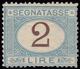 SEGNATASSE. Francobollo Nuovo Da 2 Lire (Sass. 12) Con Traccia Di Linguella. Certif. Savarese E Sorani. - Postage Due
