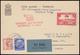 1933 VOLO SU ROMA - Lussemburgo. Cartolina Con Affrancatura Mista Germania-Luxemburg  Timbro Speciale E Bollo Di Arrivo. - 1900-44 Victor Emmanuel III