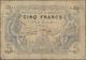 Algeria / Algerien: Banque De L'Algérie 5 Francs 1918, P.71b, Used Condition With A Number Small Bor - Algérie