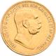 Österreich - Anlagegold: Lot 6 Goldmünzen: 3 X 10 Kronen 1897, 1908, 1911; 2 X 20 Kronen 1903, 1915; - Austria
