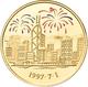Medaillen Alle Welt: Hong Kong 1997 Handover Gold And Silver Proof Commemorative Color Medal Set: Da - Jetons En Medailles