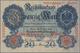 Deutschland - Deutsches Reich Bis 1945: 20 Mark 1910, Jeweils Einseitger Probedruck Der Vorder- Und - Allemagne
