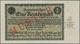"""Deutschland - Deutsches Reich Bis 1945: 1 Rentenmark 1923 Muster, Ro.154M, Roter Überdruck """"Muster"""", - Allemagne"""