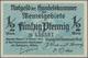 Deutschland - Nebengebiete Deutsches Reich: Memel, Großes Lot Mit 13 Banknoten, Dabei ½ Mark Ro.846b - Germany
