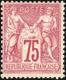 * N°71 - 75c. Carmin. Décentré. Signé CALVES. TB. - 1876-1878 Sage (Type I)