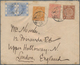 """China: 1898, Coiling Dragon 1 C., 4 C. Brown And 5 C. Rose Tricolour Tied """"SHANGHAI 28 APR 01"""" To Sm - China"""