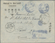 """China: 1920, Stampless AR-registered Cover With Boxed Dater """"Yunnan Atuntze 9.1.20"""" (Jan. 20, 1920) - China"""